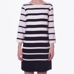 | Black & White Stripe Shift Dress