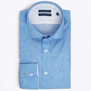 | Africa Print Shirt - Blue