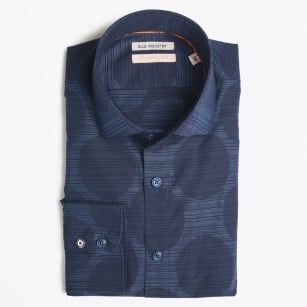 - Big Circle Print Shirt - Navy