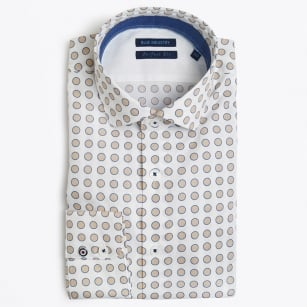 | Big Circle Print Shirt - White
