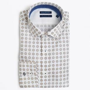 | Big Circle Print Shirt - White