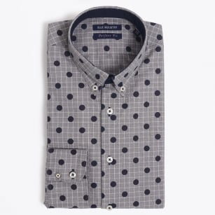 | Big Dot Check Shirt - Navy