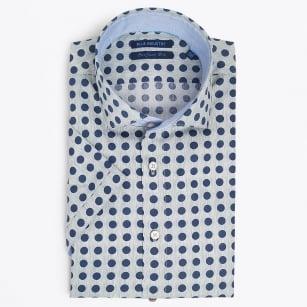 | Big Dot Short Sleeve Shirt - Grey
