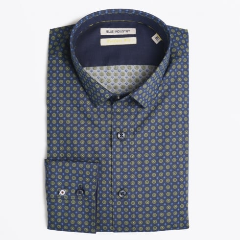 Blue Industry - Circle Detail Shirt - Green