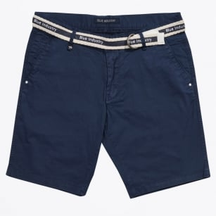 | Cotton Stretch Shorts - Navy