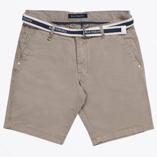 | Cotton Stretch Shorts - Sand