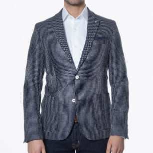 | Cross Stitch Detail Blazer - Navy