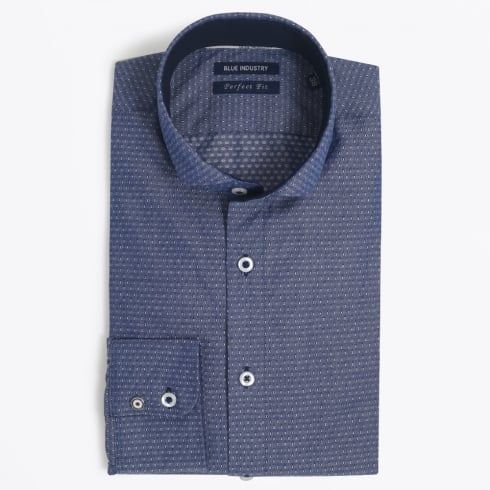Blue Industry - Dot Stitch Detail Shirt - Navy