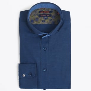 | Fine Stitch Oxford Shirt - Navy