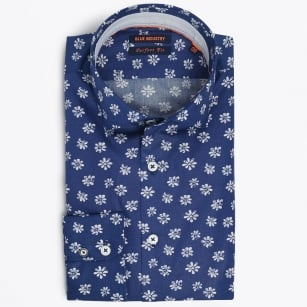 | Flower Print Shirt - Blue