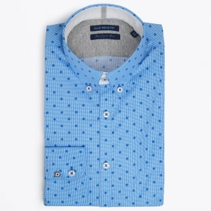 | Gingham Dot Shirt - Blue