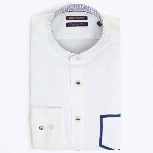 | Grandad Shirt With Pocket Detail - White