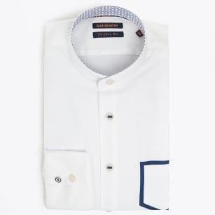 | Grandad Shirt With Pocket Detail - White