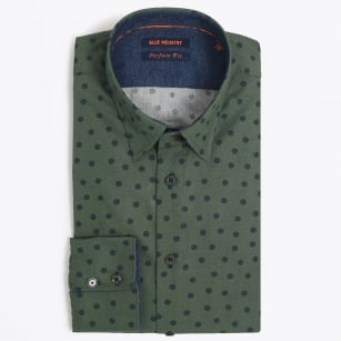 | Green Shirt with Denim | Navy Dot