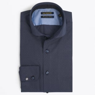 | Hexagon Print Shirt - Navy