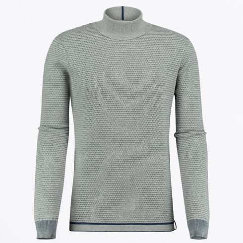 Blue Industry - High Neck Waffle Knit - Grey