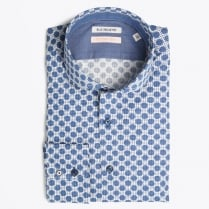 - Navy Circle Dot Shirt - Blue