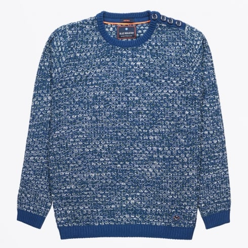 Blue Industry - Open Weave Crewneck Jumper - Indigo