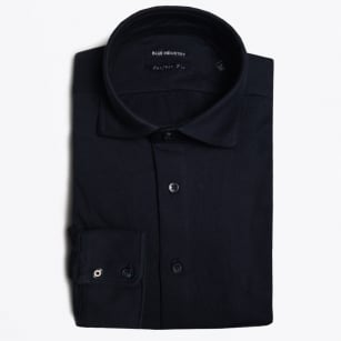 - Oscar Stretch Jersey Shirt - Navy