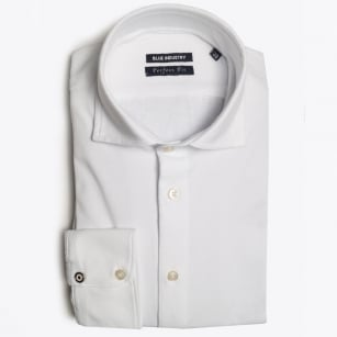 - Oscar Stretch Jersey Shirt - White