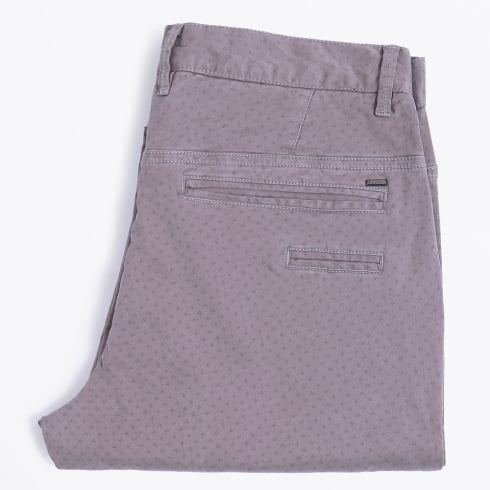 Blue Industry - Printed Stretch Chinos - Grey