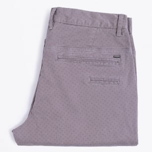   Printed Stretch Chinos - Grey