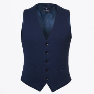 | Quilted Waistcoat - Navy