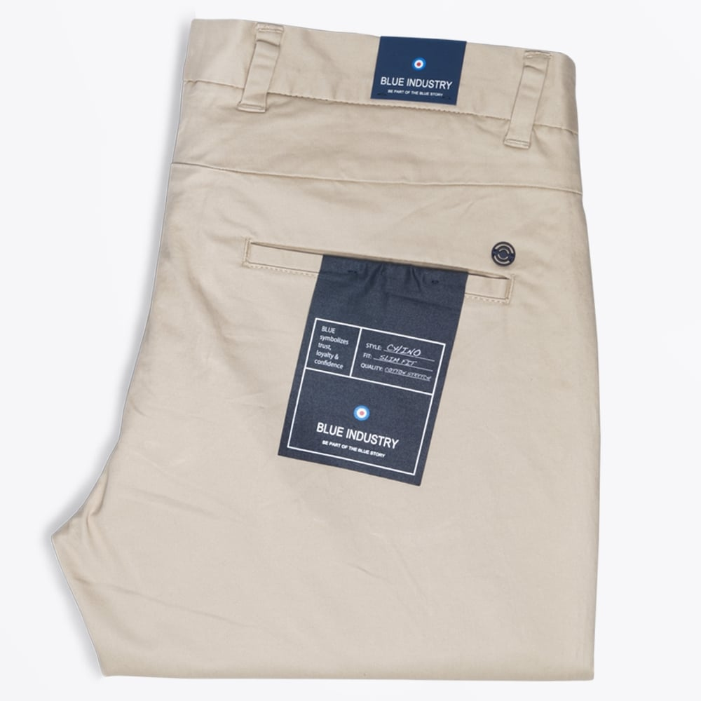 aacca24b - Slim Fit Stretch Chino - Sand