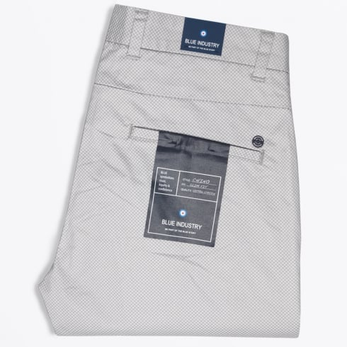 Blue Industry - Slim Fit Stretch Printed Chino - Grey