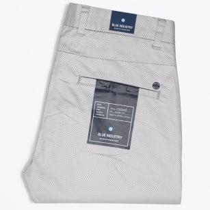 | Slim Fit Stretch Printed Chino - Grey