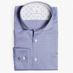 - Small Diamond Stitch Shirt - Blue