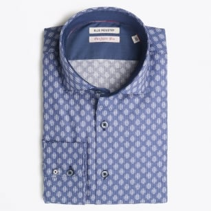 - Square Diamond Shirt - Blue