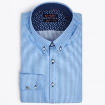 - Square Weave Shirt - Blue