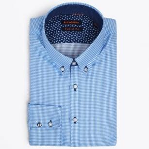 | Square Weave Shirt - Blue