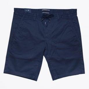 | Stretch Cotton Jogger Short - Navy