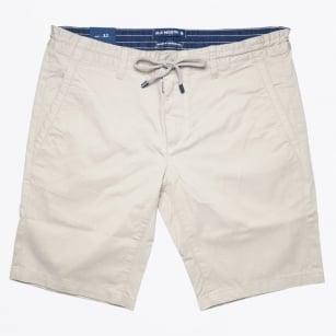 | Stretch Cotton Jogger Short - Sand