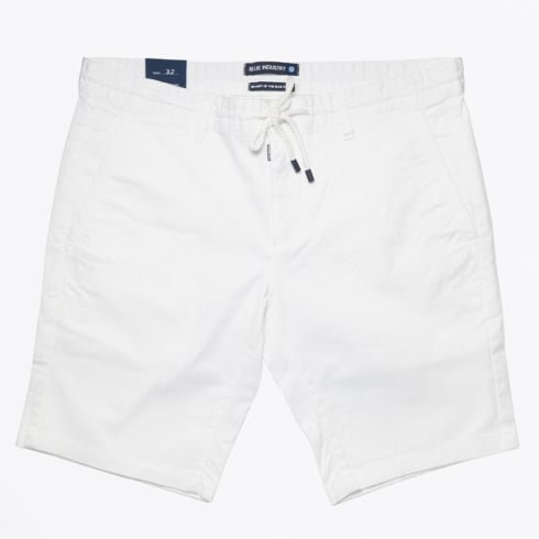 Blue Industry - Stretch Cotton Jogger Short - White
