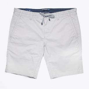 | Stretch Cotton Printed Jogger Short - Grey