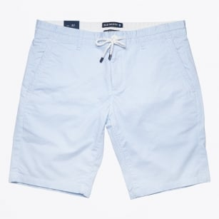 | Stretch Cotton Printed Jogger Short - White/Blue