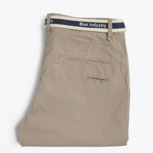 | Stretch Printed Chinos - Sand