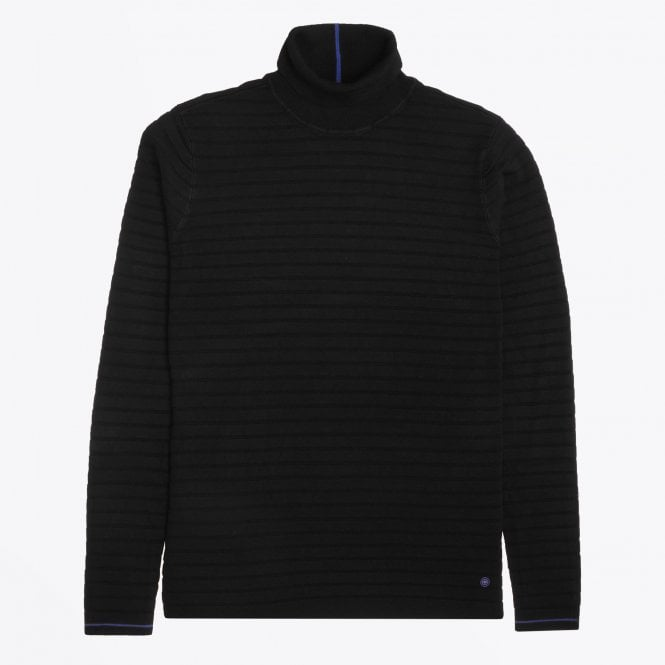 Blue Industry - Textured High Neck Knit - Black