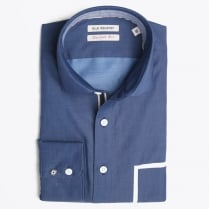 - White Pocket Detail Shirt - Blue