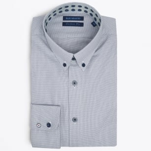 | Woven Button Down Shirt - Grey