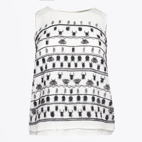 Bolongaro Trevor - Invaders Insect Print Top - White/Black
