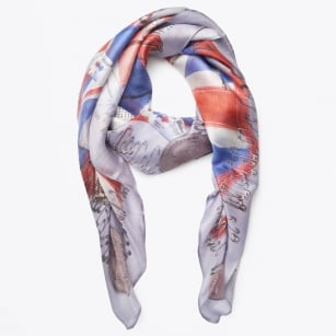 - Million Farthings Silk Scarf - Mulberry