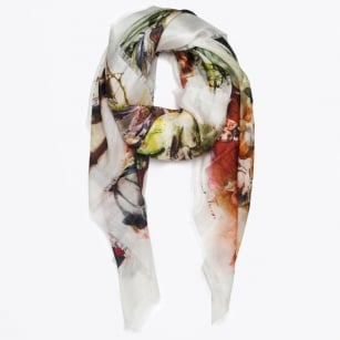 | Sunrise Silk Scarf - Mulberry