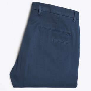 - Textured Cuffed Chino - Blue