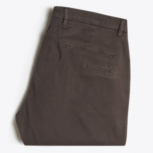 - Textured Cuffed Chino - Brown