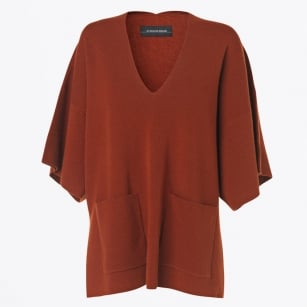 - Gayo Wool Blend Top - Rust