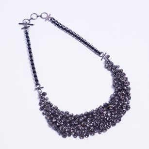 | Pioggia Statement Necklace - Grey